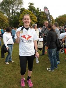 Rebecca at Loch Ness Marathon